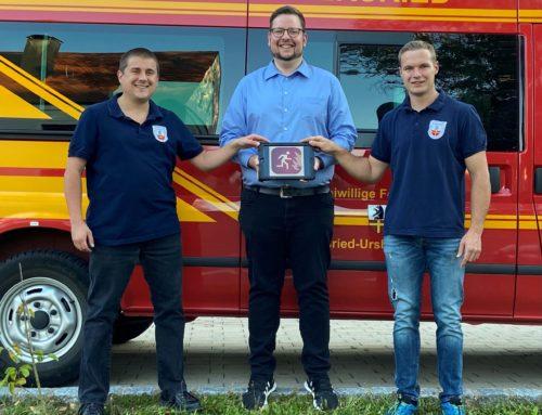 Spende für die Freiwillige Feuerwehr Bayersried-Ursberg-Premach